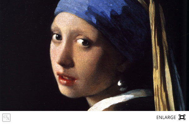 Girl with a pearl earring johannes vermeer for Johannes vermeer girl with a pearl earring