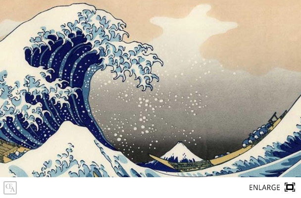 analysis of the great wave off Free essay: the great wave off kanagawa by hokusai is a famous woodcut print  that is commonly referred to as the great wave hokusai.
