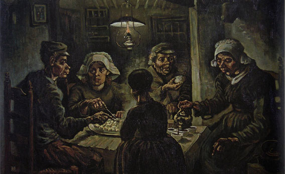 The Potato Eaters, artwork by Van Gogh